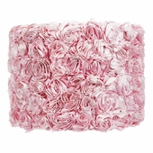 Rose Garden Pink Large Drum Lamp Shade