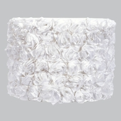 Rose Garden White Large Drum Lamp Shade