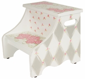 Rose in Gray Step Stool