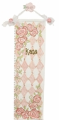Rose in Pink Canvas Growth Chart