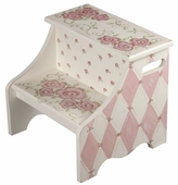 Rose in Pink Step Stool