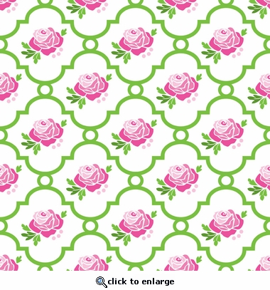 Rose Lattice Fitted Crib Sheet