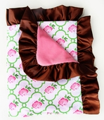 Rose Lattice Ruffle Blanket