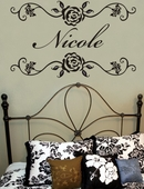 Rosevine Custom Personalized Wall Decal
