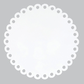 Round Dot Magnet Board in White
