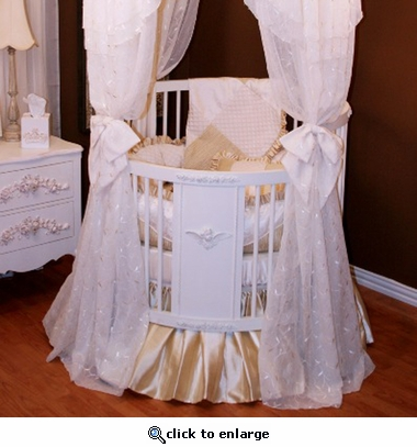 Royal Palace Round Crib Bedding