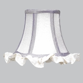 Ruffled Edge Lavender & White Chandelier Shade