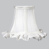 Ruffled Edge White Chandelier Shade