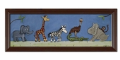 Safari Parade Framed Giclee Print
