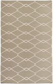 Sage Green Diamonds Fallon Hand-Woven Rug