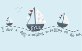 Sail Away Custom Personalized Wall Decal
