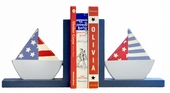 Sailboats Wooden Bookends