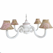 Sand Odile Four Arm Chestnut Chandelier