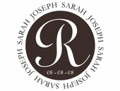 Sarah and Joseph Monogram Custom Personalized Wall Decal