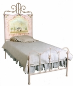 Savannah Hand-Painted Iron Bed