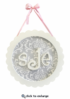 Scalloped Circle Custom Monogram Plaque