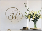 Script Initial Custom Personalized Wall Decal
