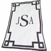 Scroll Border Personalized Blanket