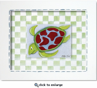 Sea Turtle Custom Framed Giclee Print