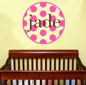 Seeing Spots Custom Personalized Wall Decal