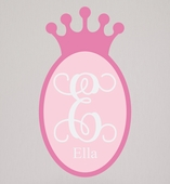 Sherri Blum Fabric Regal Princess Crown Wall Decal