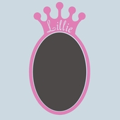 Sherri Blum Regal Chalkboard Crown Wall Decal