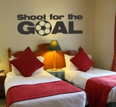 Shoot for the Goal Custom Wall Decal