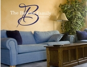 Signature Family Custom Personalized Wall Decal