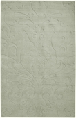 Silver Sage Damask Sculpture Loomed Rug