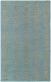 Silver & Sky Blue Loops Candice Olson Hand-Tufted Rug