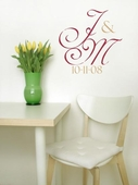 Simple but Elegant Monogram Custom Personalized Wall Decal