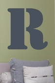 Single Block Initial Custom Personalized Wall Decal