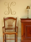 Single Fancy Initial Custom Personalized Wall Decal