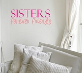 Sisters Friends Custom Wall Decal