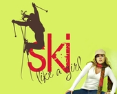 Ski Like a Girl Custom Wall Decal