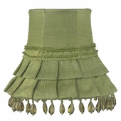 Skirt Dangle Green Chandelier Shade
