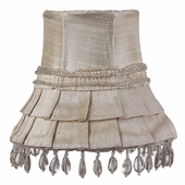 Skirt Dangle Ivory Chandelier Shade