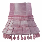 Skirt Dangle Pink Chandelier Shade