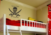 Skull and Swords Custom Personalized Wall Decal