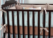 Sky Gustave Plump Crib Bumper with Honey Trim