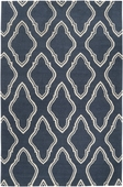 Slate Blue Fancy Diamond Fallon Hand-Woven Rug