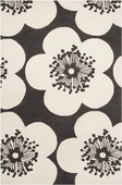 Slate Blue Flowers Aimee Wilder Hand-Tufted Rug