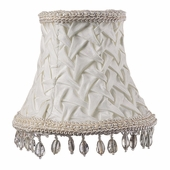 Smock with Dangles Ivory Chandelier Shade