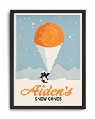 Snow Cone Custom Framed Art