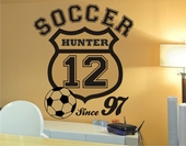 Soccer Crest Custom Personalized Wall Decal