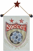 Soccer Hand Painted Canvas Banner