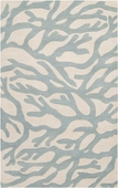 Soft Blue Coral Escape Hand-Tufted Rug