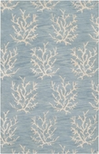 Soft Blue Reef Escape Hand-Tufted Rug