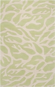 Soft Green Coral Escape Hand-Tufted Rug
