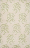 Soft Green Reef Reverse Escape Hand-Tufted Rug